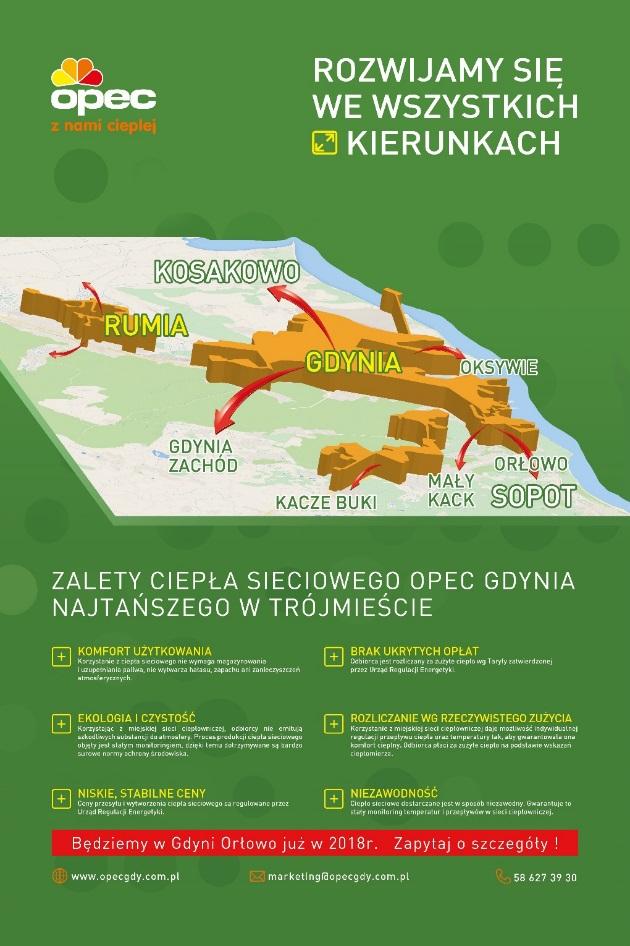Rozwój miejskiej sieci ciepłowniczej w Gdyni